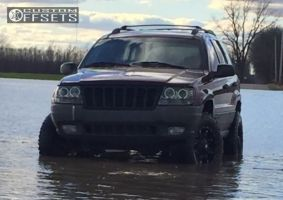 """1999 Jeep Grand Cherokee - 17x9 1mm - Fuel Hostage - Suspension Lift 4"""" - 255/75R17"""