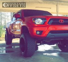 """2014 Toyota Tacoma - 20x12 -44mm - Alloy Ion Style 183 - Suspension Lift 6"""" - 305/55R20"""