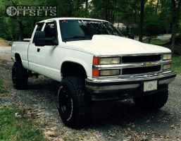 """1995 Chevrolet K1500 - 15x10 -38mm - Alloy Ion Style 171 - Suspension Lift 6"""" - 35"""" x 12.5"""""""