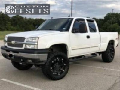 """2005 Chevrolet Silverado 1500 - 20x9 -12mm - Ballistic Jester - Suspension Lift 6"""" - 35"""" x 12.5"""""""