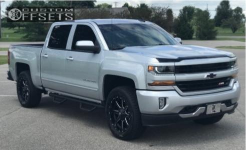2018 Chevrolet Silverado 1500 - 20x9 0mm - Fuel Maverick - Leveling Kit - 275/60R20