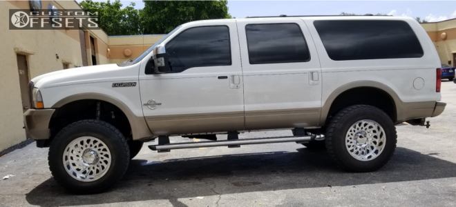 """2004 Ford Excursion - 20x12 -51mm - Cali Offroad Switchback - Suspension Lift 6"""" - 37"""" x 12.5"""""""