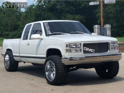 "1998 Chevrolet K1500 - 20x12 -44mm - XD Riot - Level 2"" Drop Rear - 33"" x 12.5"""