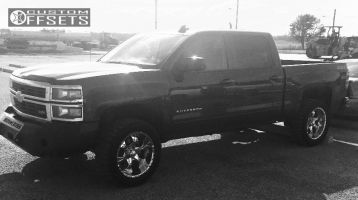 "2015 Chevrolet Silverado 1500 - 20x10 -12mm - Helo He791 - Leveling Kit - 33"" x 12.5"""
