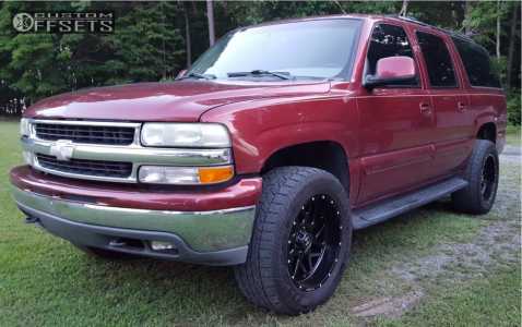 2003 Chevrolet Suburban - 20x10 -19mm - Hostile Sprocket - Leveling Kit - 305/55R20