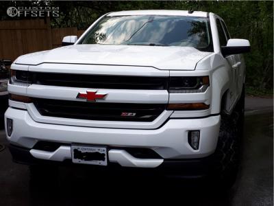 2016 Chevrolet Silverado 1500 - 20x9 0mm - Alloy Ion Style 141 - Leveling Kit - 275/60R20