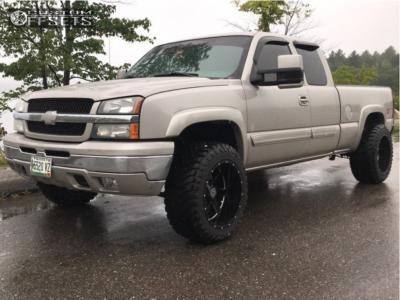 "2005 Chevrolet Silverado 1500 - 20x12 -44mm - Hardrock Tank H706 - Leveling Kit - 33"" x 12.5"""