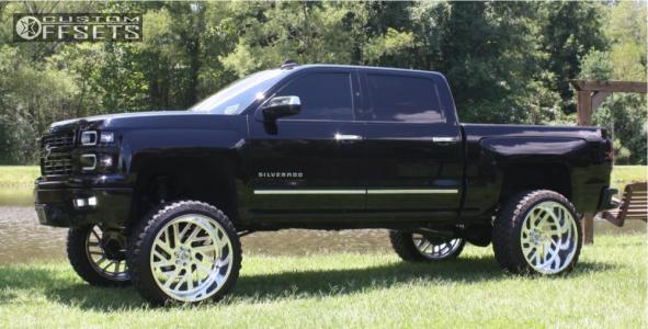 "2015 Chevrolet Silverado 1500 - 26x14 -76mm - Specialty Forged Sf015 - Suspension Lift 10"" - 37"" x 13.5"""