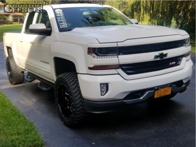 2016 Chevrolet Silverado 1500 - 20x10 -24mm - Havok H109 - Leveling Kit - 285/55R20