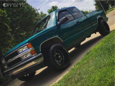 1996 Chevrolet K1500 - 20x12 -44mm - Dropstars 655bm - Stock Suspension - 265/50R20