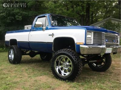 """1986 Chevrolet K10 - 20x12 -44mm - Gear Off-Road Big Block - Suspension Lift 6"""" - 35"""" x 13.5"""""""