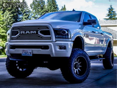 "2018 Ram 2500 - 20x12 -44mm - Raceline Shift - Suspension Lift 6.5"" - 37"" x 12.5"""