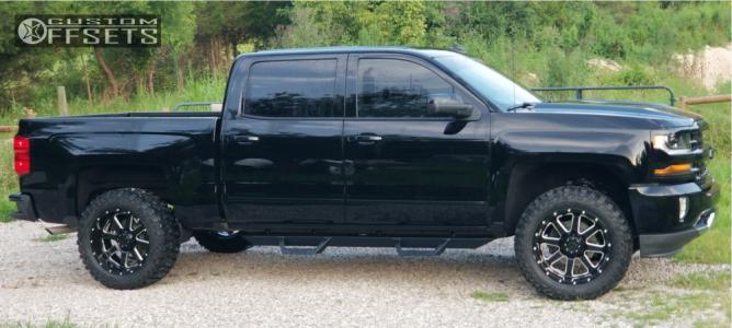 2018 Chevrolet Silverado 1500 - 20x10 -19mm - Gear Off-Road Big Block - Leveling Kit - 295/55R20