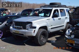 """2009 Jeep Liberty - 15x10 -38.1mm - Cragar D Window - Suspension Lift 4"""" - 32"""" x 11.5"""""""