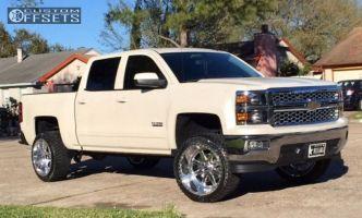 """2015 Chevrolet Silverado 1500 - 22x12 -44mm - Fuel F07 - Suspension Lift 3"""" - 305/45R22"""
