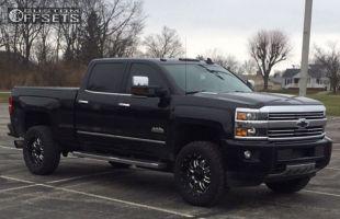 2015 Chevrolet Silverado 2500 - 20x9 0mm - BMF Rehab - Leveling Kit - 295/65R20