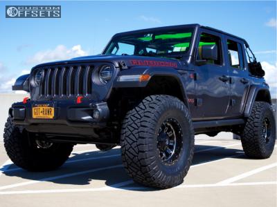 "2018 Jeep Wrangler - 17x9 -12mm - Fuel Crush - Suspension Lift 2.5"" - 37"" x 13.5"""