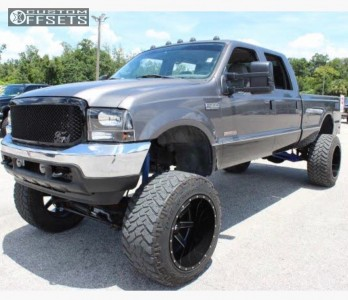 """2004 Ford F-350 - 24x16 -100mm - Forza Offroad D262 - Suspension Lift 8.5"""" - 40"""" x 15.5"""""""