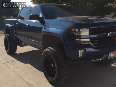 "2017 Chevrolet Silverado 1500 - 22x12 -44mm - TIS 544bm - Suspension Lift 9"" - 37"" x 13.5"""