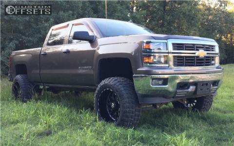 "2014 Chevrolet Silverado 1500 - 20x12 -44mm - Tis 544bm - Suspension Lift 8"" - 35"" x 12.5"""