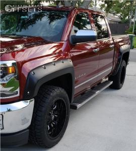 2017 Chevrolet Silverado 1500 - 20x10 -18mm - Fuel Sledge - Stock Suspension - 265/50R20