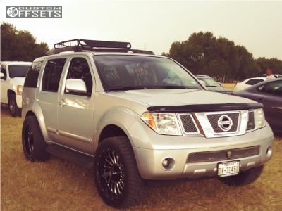 "2007 Nissan Pathfinder - 20x9 -12mm - Havok H111 - Level 2"" Drop Rear - 275/55R20"