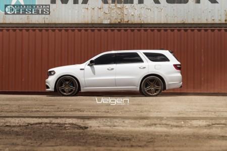 2016 Dodge Durango - 22x10.5 35mm - Velgen Split5 - Lowering Springs - 285/35R22