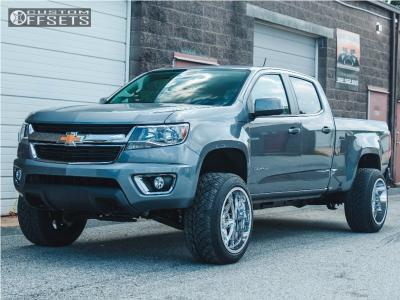 "2018 Chevrolet Colorado - 20x12 -44mm - Dropstars 655v - Suspension Lift 3"" - 265/50R20"