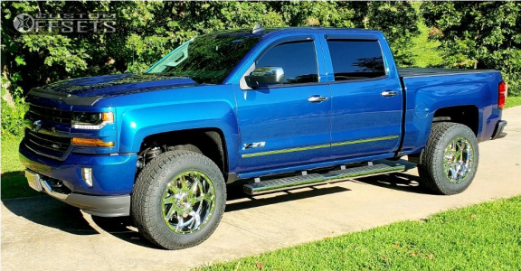 "2018 Chevrolet Silverado 1500 - 20x10 -24mm - American Truxx Vortex - Suspension Lift 3.5"" - 265/75R20"