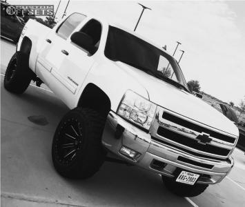 "2011 Chevrolet Silverado 1500 - 20x12 -44mm - Xd Xd818 - Suspension Lift 6"" - 0"" x13.5"""