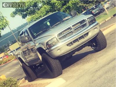 "2000 Dodge Dakota - 16x8 -12mm - Pro Comp Series 89 - Suspension Lift 3"" - 285/75R16"
