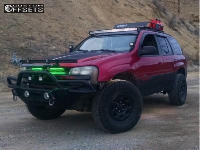 "2004 Chevrolet Trailblazer - 17x8 13mm - Black Rock 8p - Suspension Lift 3"" - 285/70R17"