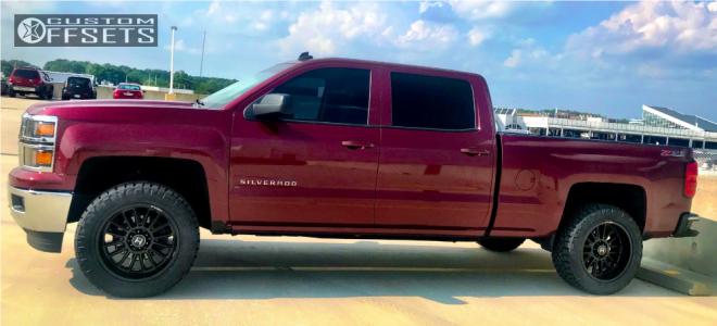 "2014 Chevrolet Silverado 1500 - 20x10 -19mm - Hostile Predator - Suspension Lift 3.5"" - 285/55R20"
