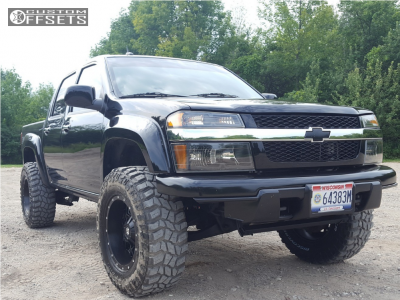 "2011 Chevrolet Colorado - 17x9 -12mm - Dropstars 645b - Suspension Lift 3"" - 285/70R17"