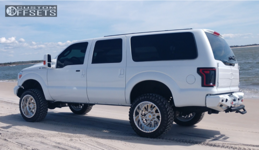 """2003 Ford Excursion - 22x12 -51mm - Fuel Forged Ff36 - Suspension Lift 4"""" - 35"""" x 12.5"""""""