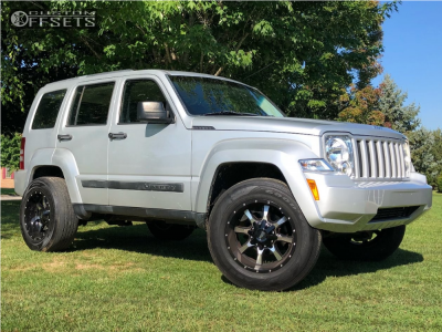 "2011 Jeep Liberty - 18x10 -24mm - Moto Metal Mo970 - Suspension Lift 2.5"" - 265/65R18"