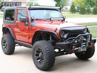 "2009 Jeep Wrangler - 17x9 -12mm - Fuel Assault - Suspension Lift 2.5"" - 33"" x 12.5"""