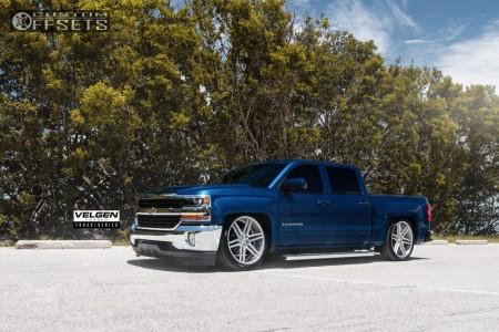 2017 Chevrolet Silverado 1500 - 22x10 30mm - Velgen Vft6 - Air Suspension - 305/35R22