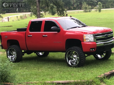 "2011 Chevrolet Silverado 1500 - 24x12 -44mm - Hardcore Offroad Hc05 - Suspension Lift 7.5"" - 35"" x 12.5"""