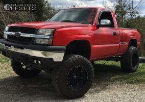"2004 Chevrolet Silverado 1500 - 20x12 -44mm - Fuel Hostage - Lifted >9"" - 38"" x 13.5"""