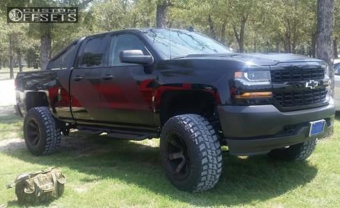 "2017 Chevrolet Silverado 1500 - 20x12 -44mm - Fuel Beast - Suspension Lift 6.5"" - 35"" x 12.5"""