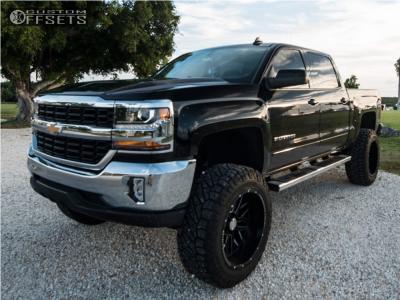 "2017 Chevrolet Silverado 1500 - 22x12 -44mm - Axe Offroad Ax1.0 - Suspension Lift 8"" - 37"" x 12.5"""