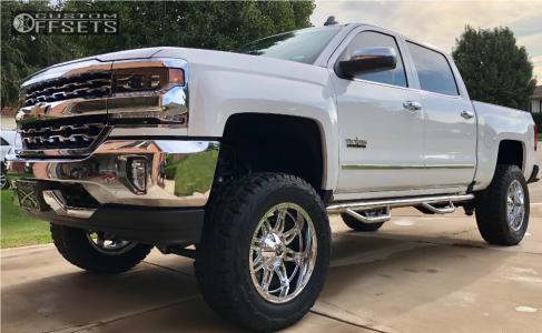 """2018 Chevrolet Silverado 1500 - 20x10 -24mm - Fuel Hostage - Suspension Lift 8"""" - 35"""" x 12.5"""""""
