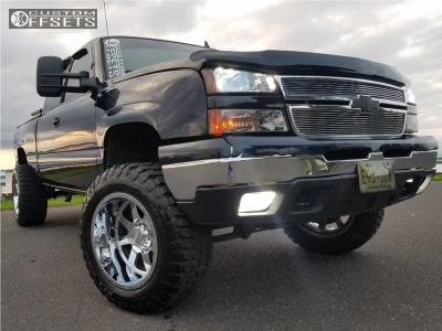 """2006 Chevrolet Silverado 1500 - 20x12 -44mm - Gear Off-Road 726c - Suspension Lift 6"""" - 35"""" x 12.5"""""""