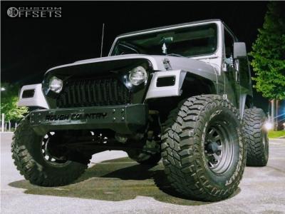 """2000 Jeep TJ - 15x8 -19mm - Black Rock D Widow - Stock Suspension - 33"""" x 12.5"""""""
