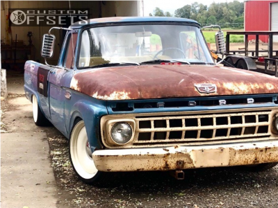 1965 Ford F-100 Pickup - 20x8 0mm - Detroit Smoothies - Lowered Adj Coil Overs - 225/35R20