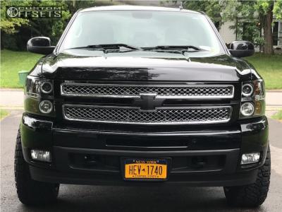 2012 Chevrolet Silverado 1500 - 20x12 -44mm - Fuel Cleaver - Leveling Kit - 275/55R20