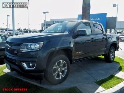 2018 Chevrolet Colorado - 18x8.5 24mm - Stock Oem - Stock Suspension - 265/65R18