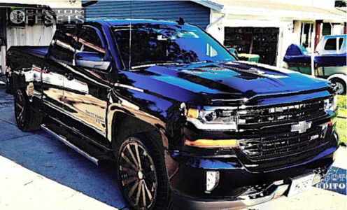 2017 Chevrolet Silverado 1500 - 22x9 30mm - Velocity Vw12a-m - Stock Suspension - 305/45R22