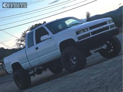 "1996 Chevrolet K1500 - 20x14 -75mm - Fuel Moab - Suspension Lift 6"" - 35"" x 13.5"""